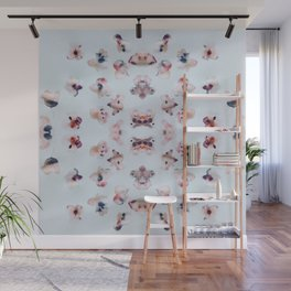 Flower Dabs Wall Mural