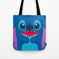 stitch Tote Bags featuring stitch by customgift