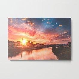 Sunrise over Florence Metal Print