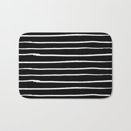 Abstract Stripes in Cream and Black II Bath Mat
