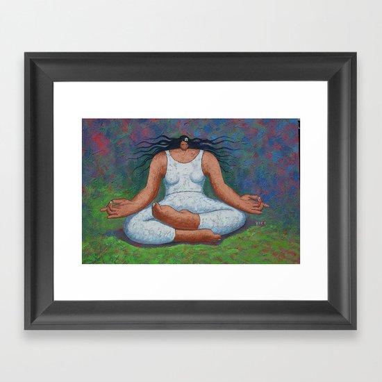 Lotus Pose Framed Art Print