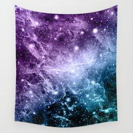 Purple Teal Galaxy Nebula Dream #4 #decor #art #society6 Wall Tapestry