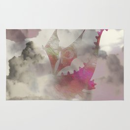 Pink Cloud Dragon Rug
