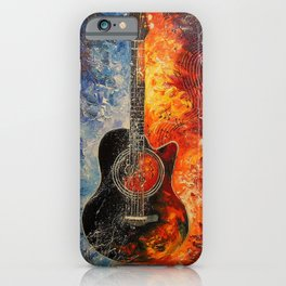 The rhythms of the guitar iPhone Case