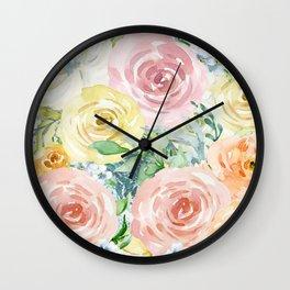 Botanical Pastel Beauty Wall Clock