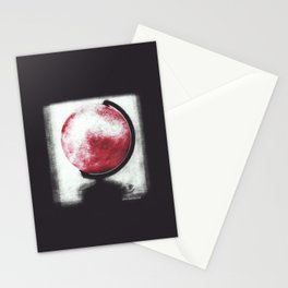 The world Globe - photopolymer/gravure Stationery Cards