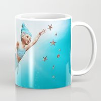 little mermaid Mugs featuring Little Mermaid by Simone Gatterwe