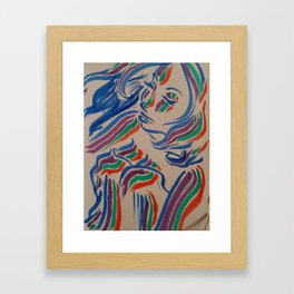 Flow with the Colours Framed Art Print