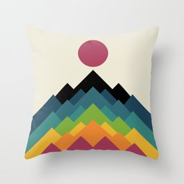 Life Is A Mountain Throw Pillow
