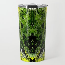 Green-Yellow  Gothic  Dandelions Architectural Fantasy Travel Mug
