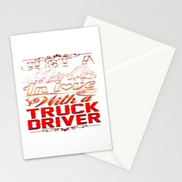 In love with a Truckdriver Stationery Cards