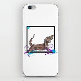 Paper Wiener Dog- Wild World Of Paper Series iPhone Skin