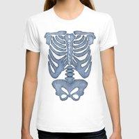 bastille T-shirts featuring Bastille Skeleton by OhHolyBastille