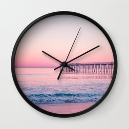 Hermosa Beach, USA #society6 #decor #buyart Wall Clock