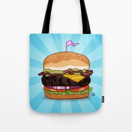 Bacon Cheeseburger Tummy Tote Bag