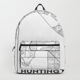 Minimal City Maps - Map Of Huntington Beach, California, United States Backpack