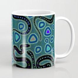 Snake Totem Seamless Blue Tapas Design Coffee Mug