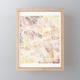 Watercolour Facets #2 Burnt Lemon  Framed Mini Art Print
