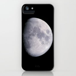 Waxing gibbous moon iPhone Case