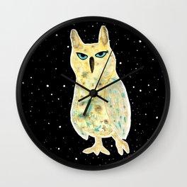 Intergalactic owl Wall Clock