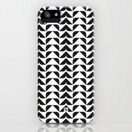 MODERN TRIBAL III - BLACK iPhone Case