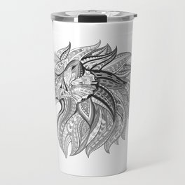 Ethnic Tribal Lion Doodle 02 Travel Mug
