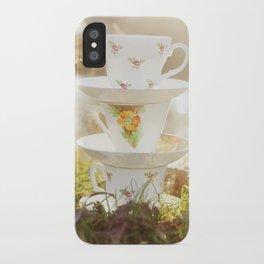 Three little teacups iPhone Case