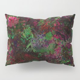 Purple Warfare - Abstract purple, pink, green and black abstract Pillow Sham