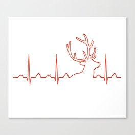 HUNTING HEARTBEAT Canvas Print