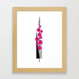 Flower of August - Gladiolus Framed Art Print