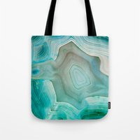 turquoise Tote Bags featuring THE BEAUTY OF MINERALS 2 by Catspaws