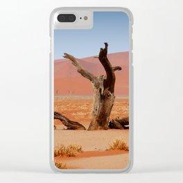 NAMIBIA ... Namib Desert Tree Clear iPhone Case