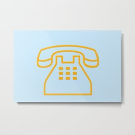 telephone symbol illustration Metal Print