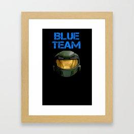 Blue Team Framed Art Print