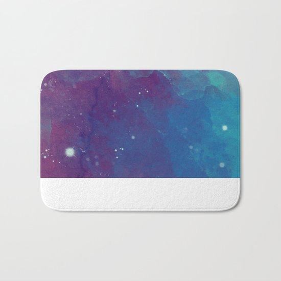 Watercolor night sky Bath Mat