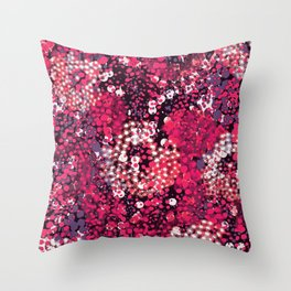 sparkling dots in red Throw Pillow