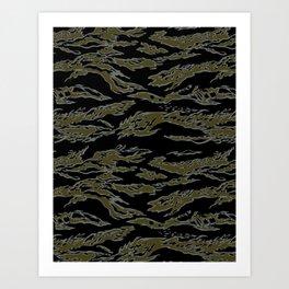 Tiger Camo Art Print