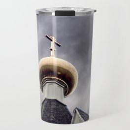 Catholic Church Against The Sky Travel Mug