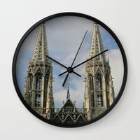 vienna Wall Clocks featuring Vienna by Kim Ramage