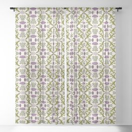 Wild Thistle Meadow Sheer Curtain