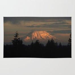 Sunrise Over Mt. Rainier Rug