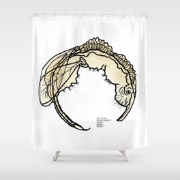 Combilaw Beverage Beastie with Origin Story Shower Curtain