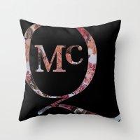 steve mcqueen Throw Pillows featuring McQueen by TOM MONFORTI