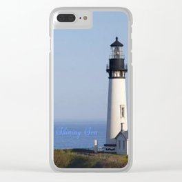 Lighthouse Newport Oregon Clear iPhone Case