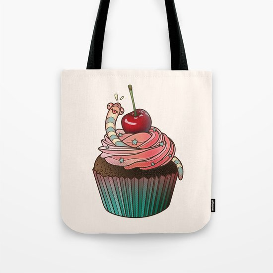 SWEET WORMS 1 - cupcake Tote Bag