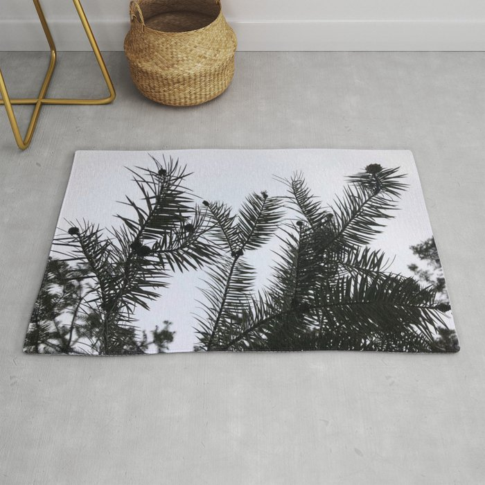 Silver Fir Abies Alba Abstract Rug By Tronictees Society6