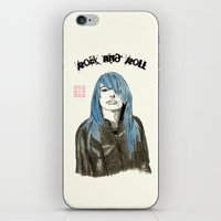 rock and roll iPhone & iPod Skins featuring Rock and Roll by Bryan James