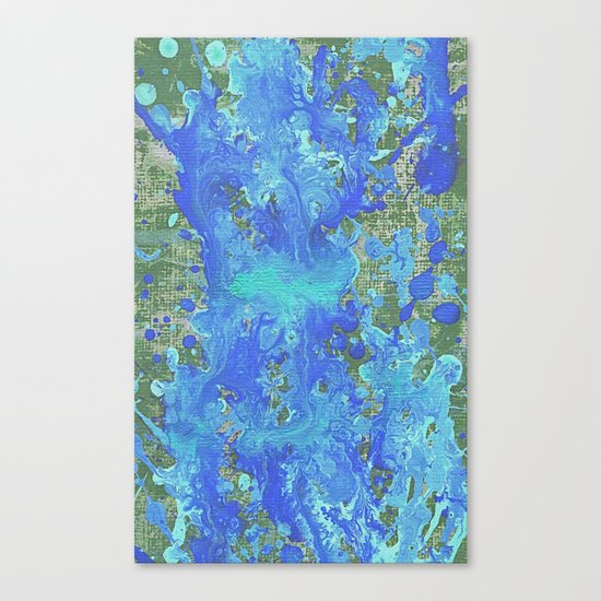 Water Flow On The Earth Canvas Print