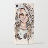 sky ferreira iPhone & iPod Cases featuring Sky Ferreira by vooce & kat