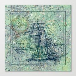 Vintage Clipper Ship Canvas Print